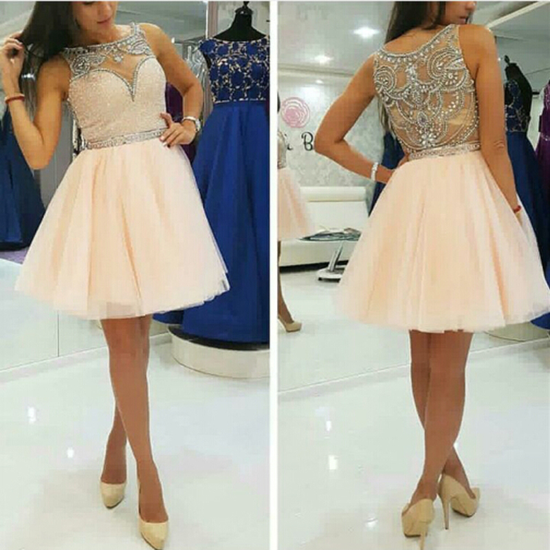 Peach Color Prom Dresses 18
