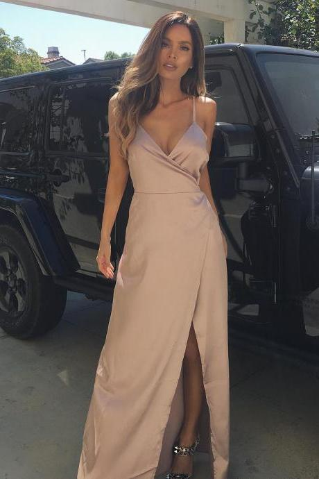 Charming Prom Dress,Sleeveless Prom Dresses,Sexy Evening Dress,Long Prom Party Dress