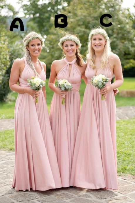 Sexy Simple Halter Bridesmaid Dress,Wedding Guest Party Dress, Chiffon Bridesmaid Dresses