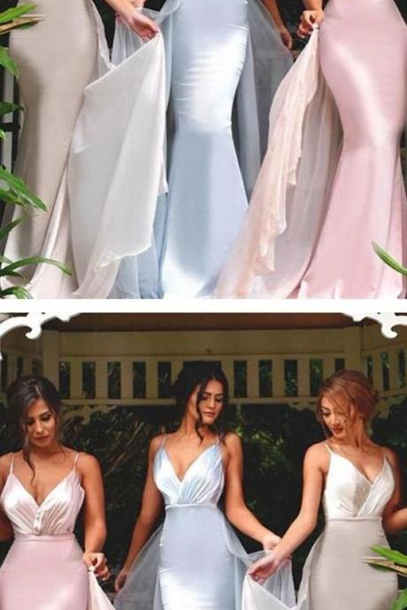 Charming Prom Dress, Sexy V Neck Prom Dresses, Mermaid Evening Party Dress