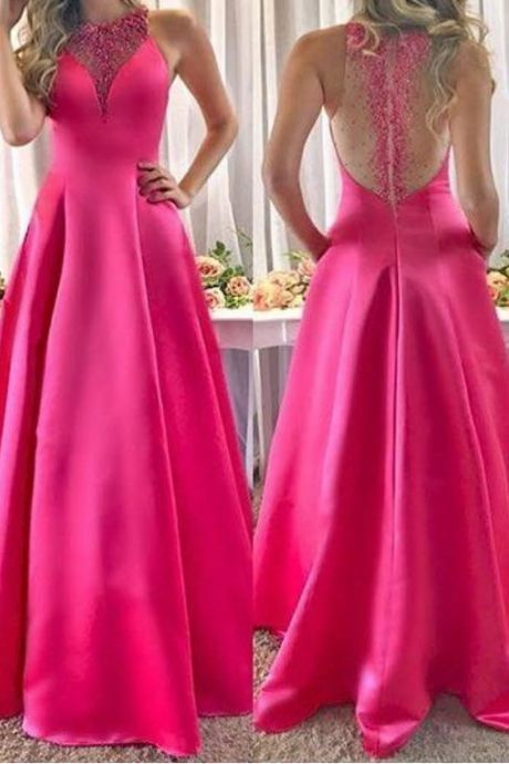 Charming Prom Dress, Elegant Appliques A Line Prom Dresses, Long Evening Party Dress
