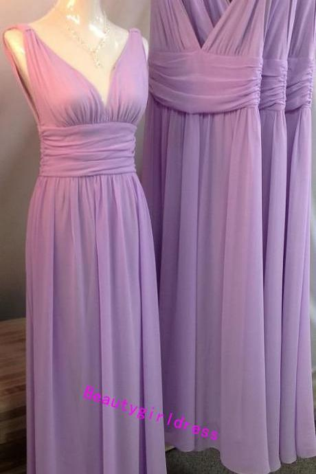 Bg360 New Arrival Purple Prom Dress,Chiffon Prom Dresses,V Neck Prom Dress,Beading Prom Dress,Prom Dresses 2016