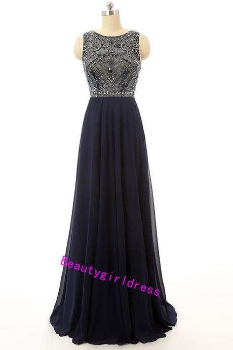 Bg362 Black Prom Dress,Floor Lenth Prom Dresses,Long Prom Dress,Chiffon Prom Dress,Beading Prom Dress,Long Evening Dress