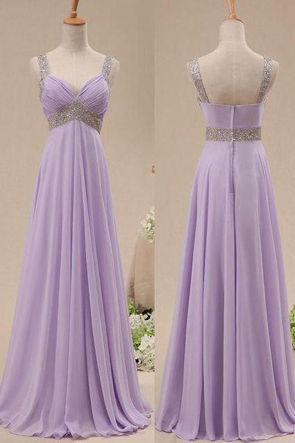 Bg388 New Arrival Chiffon Prom Dresses,Beading Prom Dress,Backless Prom Dress,Light Purple Prom Dress,Prom Dresses 2016
