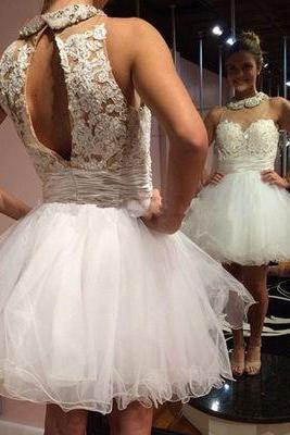 Bg586 Charming Prom Dress,Tulle Prom Dress,Short Prom Dress,White Prom Dress,Pretty Girl Dress,Homecoming Dress