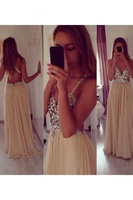 Bg664 Charming Prom Dress,Backless Prom Dress,Chiffon Prom Dresses