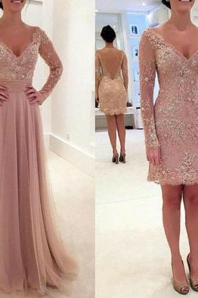 Bg919 Long Sleeve Prom Dress,Tulle Prom Dress,Pink Prom Dress,Sexy Prom Dresses,Lace Prom Dress,Prom Dress 2016