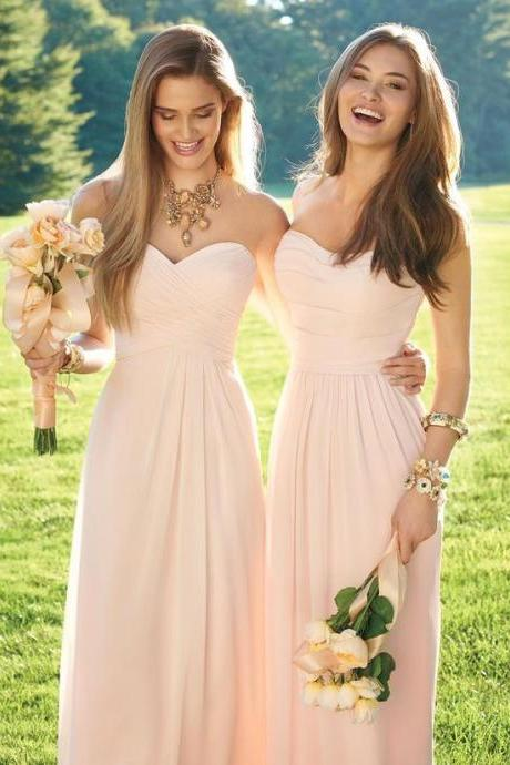 Bg927 Chiffon Bridesmaid Dress,Long Bridesmaid Dresses,Wedding Party Dress