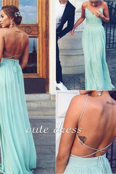 Bg962 V Neck Prom Dress,Backless Prom Dress,Chiffon Prom Dress,Sexy Prom Dresses,Long Evening Dress,Prom Gown,Evening Gown