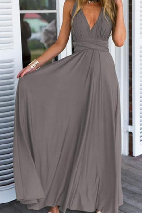 Bg980 New Arrival V Neck Prom Dress,Chiffon Prom Dress,Long Evening Dress,Evening Gown,Prom Dresses 2016