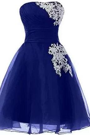 Bg1044 Royal Blue Prom Dress,Backless Prom Dress,Short Evening Dress,Formal Dress