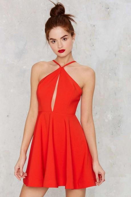 Bg1211 Cute Red Homecoming Dress,Chiffon Homecoming Dresses,Short Prom Dress