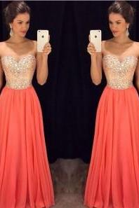 Bg1288 Charming Prom Dresses,Long Evening Dress,Sweetheart Chiffon Prom Dress