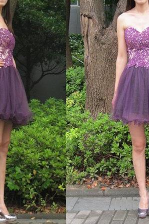Charming Prom Dress,Tulle Homecoming Dress,Sweetheart Homecoming Dresses,Short Prom Dress