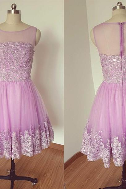Tulle Homecoming Dress,Short Homecoming Dress,Short Graduation Dress,Lace Prom Dress