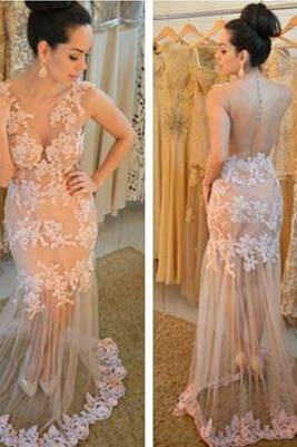 Charming Prom Dress,Long Prom Dress,Lace Evening Dress,Evening Gown for Teens,Pretty Prom Dress