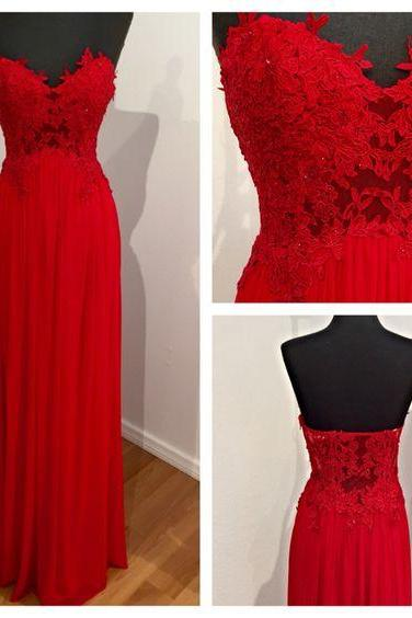 New Arrival Red Chiffon Prom Dress,Long Formal Evening Dress,Backless Prom Dresses,Formal Prom Gown