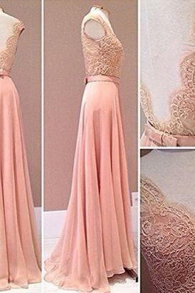 Charming Prom Dress,Chiffon Prom Dresses,Lace Appliques Prom Dress,Long Evening Dress,Formal Gown,Women Dress