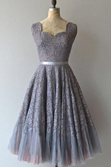 Homecoming Dress,Tulle Homecoming Dress with Lace,Elegant Prom Dress,Formal Dress
