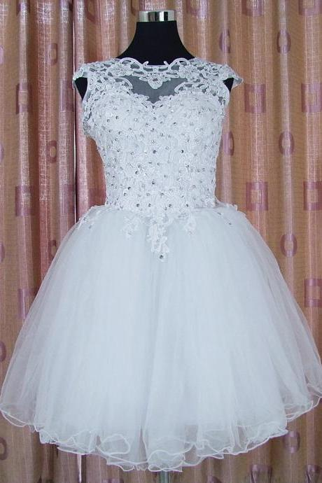 Sexy Prom Dress,Sleeveless Beaded Prom Dress,Tulle White Prom Dresses,Prom Gown,Party Dress