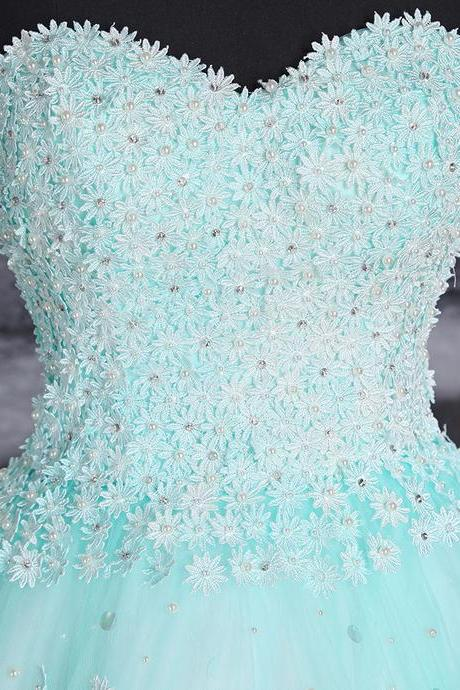 Charming Prom Dress, Sexy Prom Dresses,High Low Prom Dress,Sweetheart Beaded Pearls Prom Dress,BacklessParty Dress
