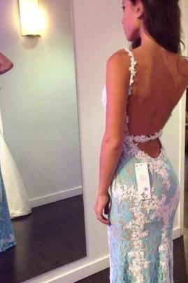 Sexy Prom Dress, Charming Prom Dress, V Neck Prom Dresses,Long Prom Dress,Mermaid Evening Dress,Lace Evening Dresses