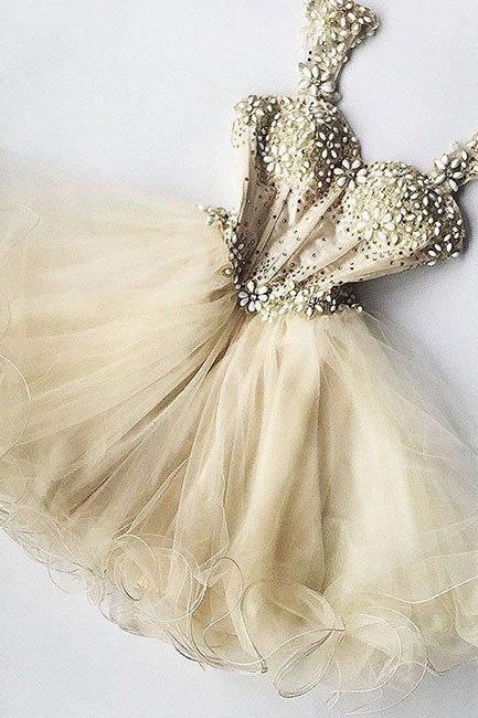 Sexy Prom Dress,Tulle Prom Dress,Cute Prom Dress,Mini Prom Party Dress,Lovely Party Gown