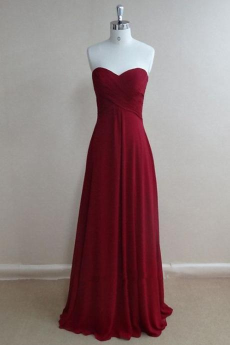 New Arrival Simple Prom Dress,Chiffon Prom Dress,Sweetheart Evening Dress,Open Back Evening Formal Dress