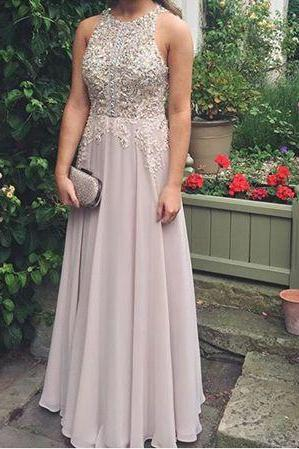 Charming Prom Dress,Sexy Prom Dress,Sleeveless Prom Dresses,O Neck Evening Dress,Formal Evening Gowns