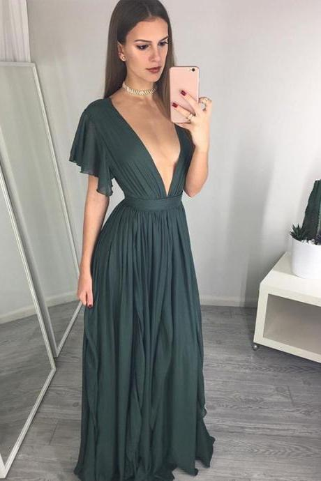 Charming Prom Dress,Sexy Prom Dress,Chiffon Prom Dresses,Long Evening Dress,Formal Evening Gowns