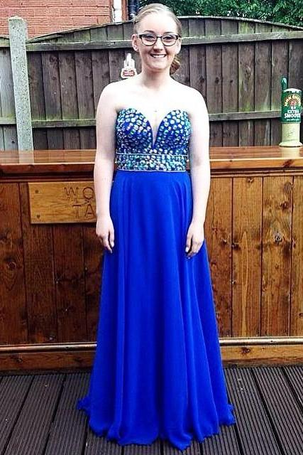 Elegant Prom Dress,Sweetheart Prom Dress,Backless Prom Dress,Pretty Blue Party Dress for Prom, Long Prom Dresses