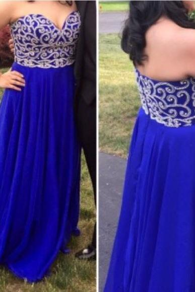 Charming Prom Dress,Sleeveless Prom Dress,Elegant Prom Dresses,Backless Prom Dresses with Beaded
