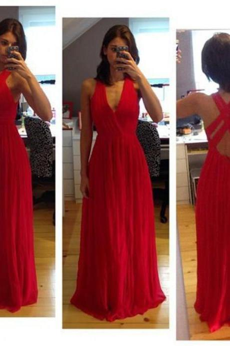 Charming Prom Dress,Sexy Red Prom Dresses,Elegant Prom Dresses,Long Evening Dress,Sleeveless Prom Party Dress,Prom Gowns