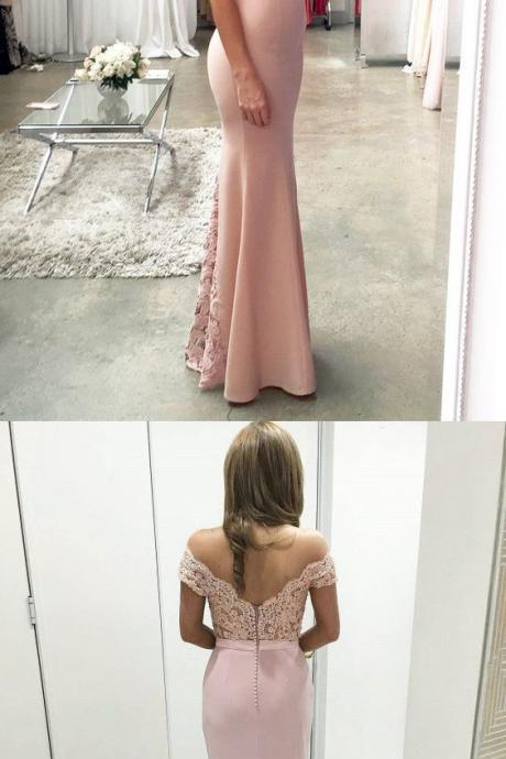 Charming Prom Dress,Sexy Mermaid Prom Dresses, Off Shoulder Prom Dress, Long Evening Dress,Prom Dresses 2017