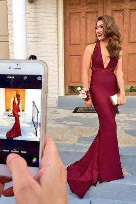 New Arrival Sexy Prom Dress, Backless Mermaid Prom Dress,Long Prom Dresses,Formal Evening Dress,Elegant Prom Dress