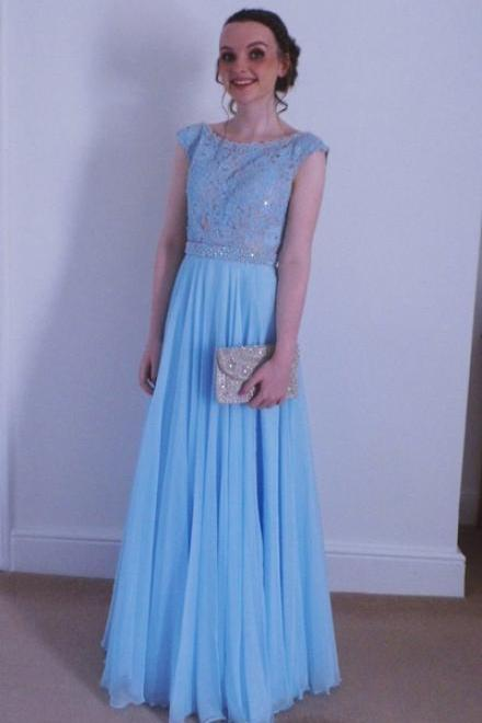 A Line Prom Dress,Charming Prom Dress,Blue Appliques Beaded Prom Dresses,Long Evening Dress,Formal Women Dress