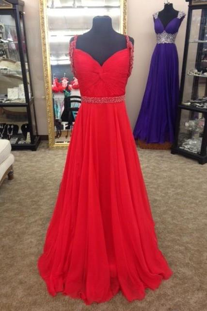 Sleeveless Prom Dress,Sexy Prom Dress,Red Prom Dress,Long Prom Dresses,Formal Evening Dress