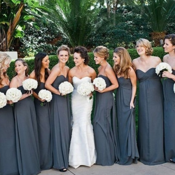Chiffon Pleated Simple Sexy Bridesmaid Dress,Wedding Guest Dress
