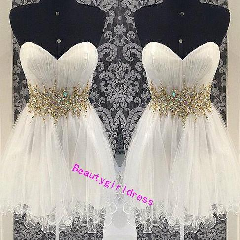 Bg265 Charming Prom Dress,Short Homecoming Dress,Tulle Homecoming Dresses,Beading Homecoming Dress,Pretty Prom Dress