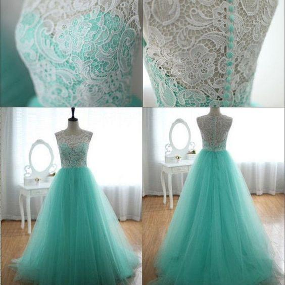 Bg988 New Arrival Tulle Homecoming Dress,Blue Prom Dress,Lace Prom Dress,Long Evening Dress,Evening Gown